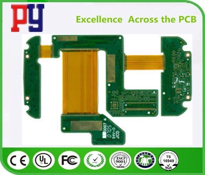 Long Lifespan Rigid Flex PCB 6 Layer 1-3 Oz Copper Thickness ENIG Process